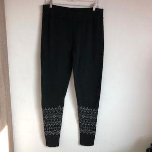 GapBody Fair Isle Sweater Knit Wool Blend Leggings